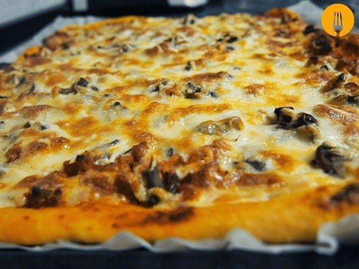 receta pizza carne picada bacon