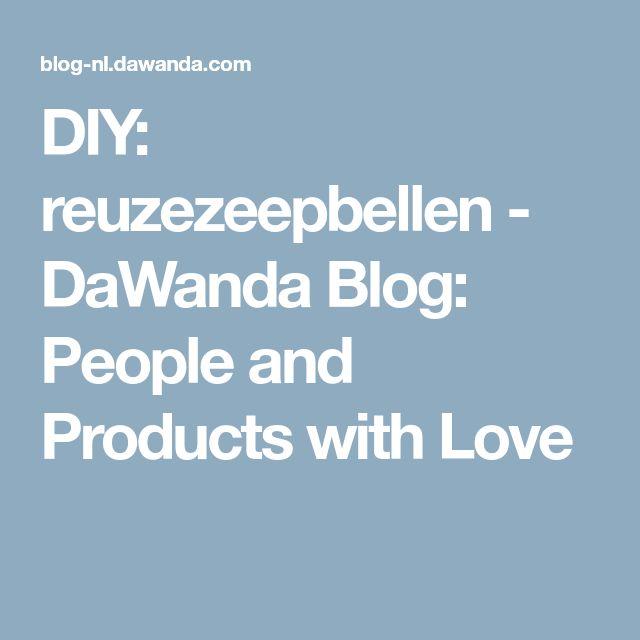 DIY: reuzezeepbellen - DaWanda Blog: People and Products with Love