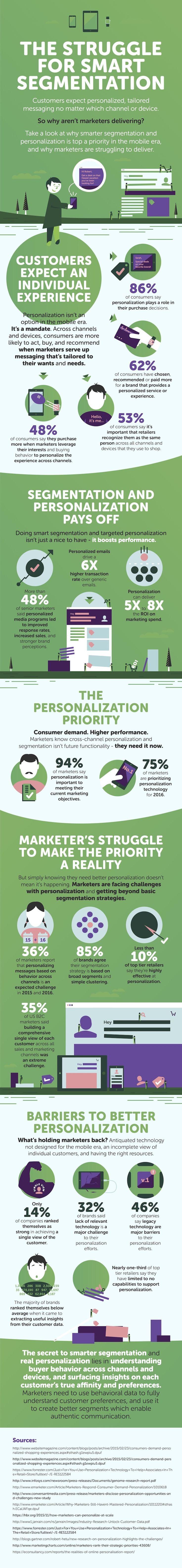 The Struggle for Smart Segmentation #Infographic #Advertising #Marketing