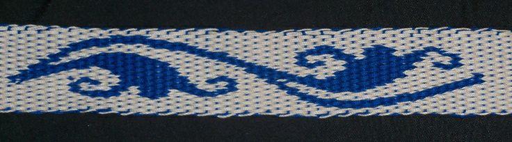Card weaving. Double-face. Leaf designs #3