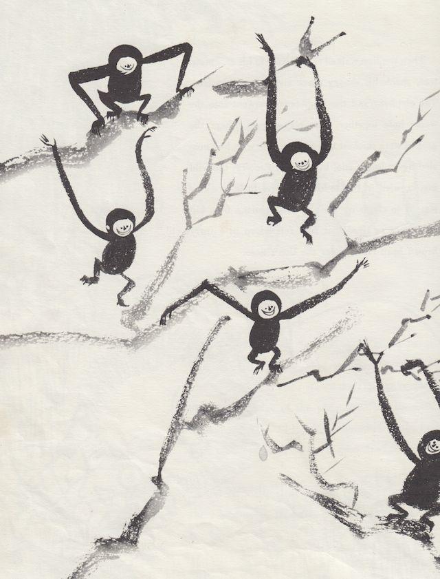 Five Little Monkeys written & illustrated by Juliet Kepes, 1952.
