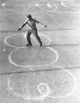 Olympic Figure Skating Champion Dick Button Does Loops.