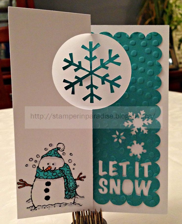 Artfully Sent Snowflake Meets Flakey Friends