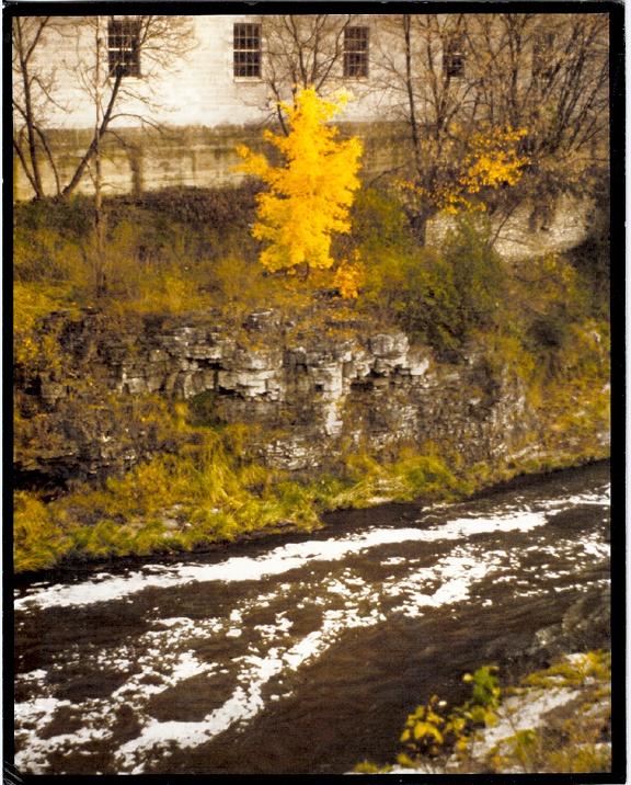 Grand River, Fergus, Ontario.   © 1985 j. marshall craig