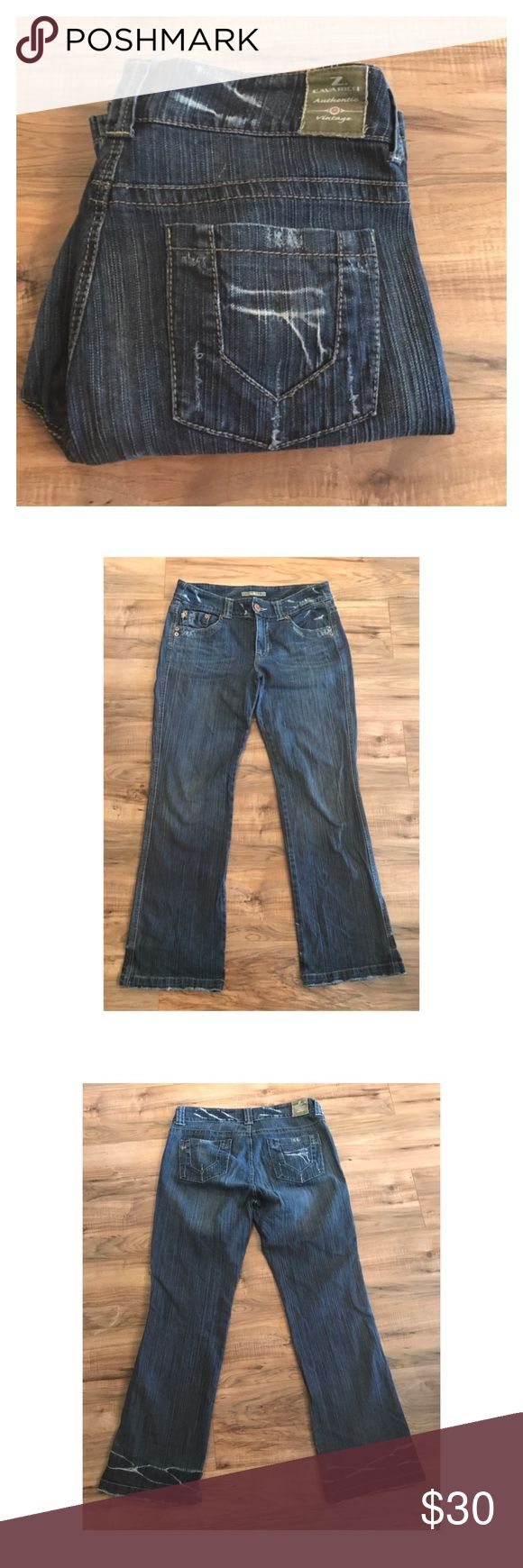 "Z. Cavaricci jeans 16 Lightly distressed Z. Cavaricci jeans size 16. Awesome jeans with flare and vintage appeal. Waist 17"", rise 10"", inseam 32"". Measurements taken flat. Z. Cavaricci Jeans Flare & Wide Leg"
