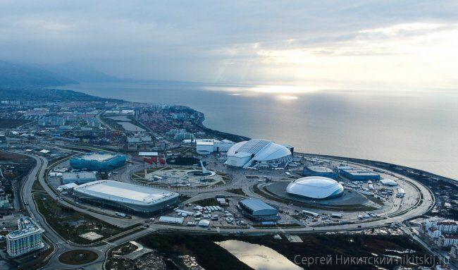 Как сейчас выглядят Олимпийские объекты Сочи с вертолета ( 25 фото )