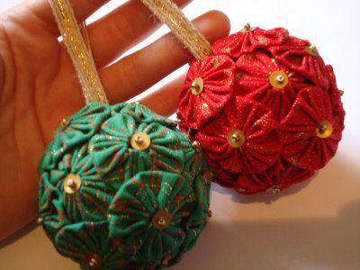 Como Decorar Bolinhas De Natal Com Fuxico