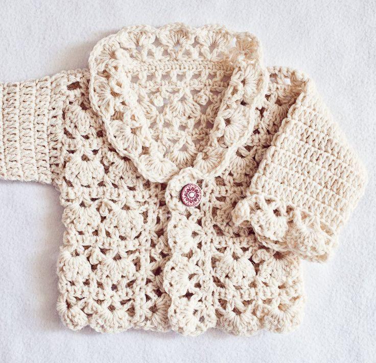 Free Crochet Baby Cardigan Pattern Ganchillo Para Bebs Cardigan