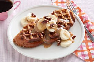 Waffled French Toast with Cinnamon-Maple Cream