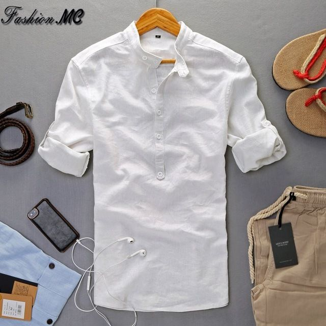 AliExpress - Summer Linen Shirt High Quality Casual Pullover Three Quarter Sleeve