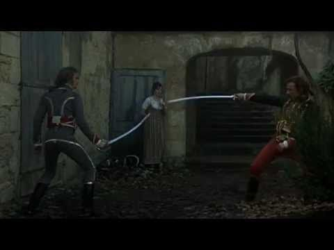 T2: The Duellists - 1977. If you want to see textbook examples of all of the different 'fashionable' styles of dueling during the Napoleonic era, this is your film. It's also the only movie I've watched that seems to recreate authentic combat - a cavalry sabre is a heavy thing and it really takes a physical toll after just a few minutes of adrenaline fueled activity - and there isn't any of the ridiculous swashbuckling flourish you usually see in the movies.