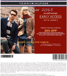 Printable Coupons: Tommy Hilfiger Coupons