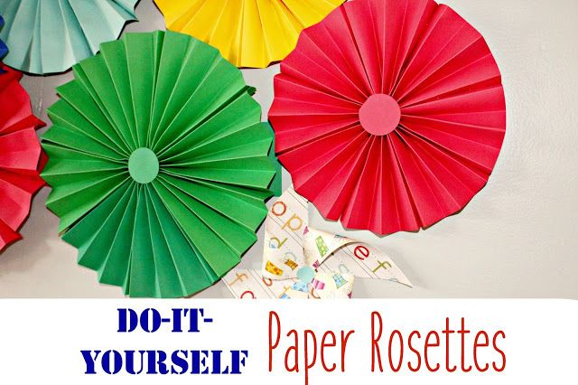 Do-It-Yourself Paper Rosettes, so easy! Tutorial included.