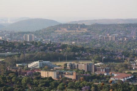 Pretoria Union Buildings as seen from Fort Klapperkop. #pretoria #jacaranda #trees #capital