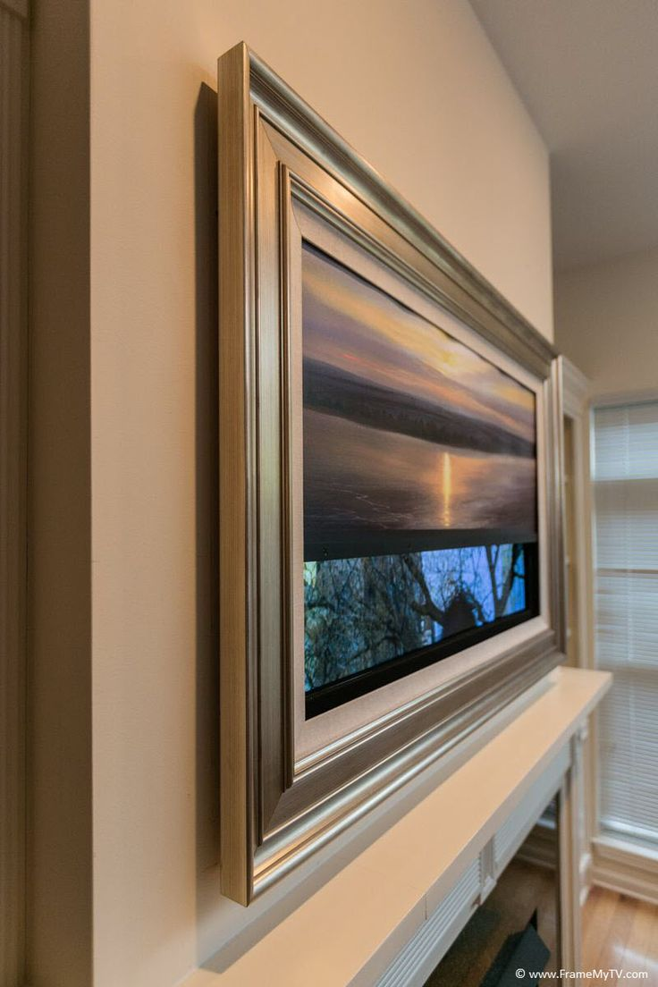 View our TV frame gallery with some of our finest art TV covers in action. A fine art TV cover beautifully blends your TV in with the surrounding environment.