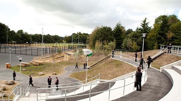 Witton Park High school outside area