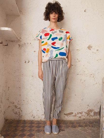 Striped trousers Woman