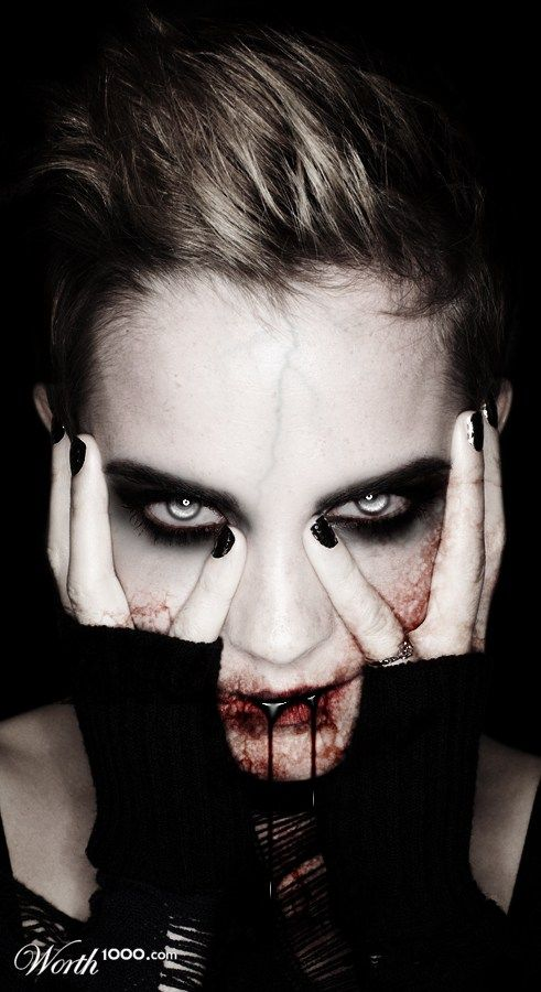 whole look holloween  vampire