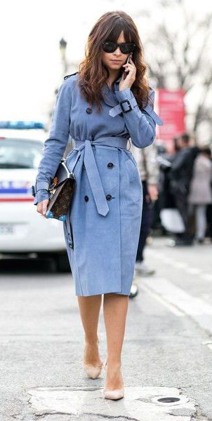 #street #style / lilac trench coat