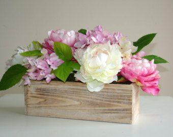 cassetta legno vasi fioriera nei boschi casella di MalvinaArt