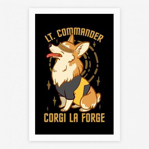 Lieutenant Commander Corgi La...   Posters, Giclee Prints and Art Prints   HUMAN