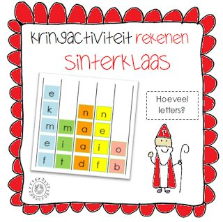 (kleine) kringactiviteit rekenen - Hoeveel (chocolade)letters heeft je naam? | Thema SINTERKLAAS