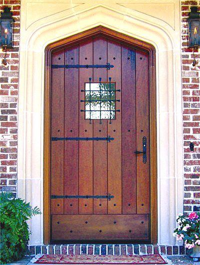 Beautiful Tudor Style Entry Doors