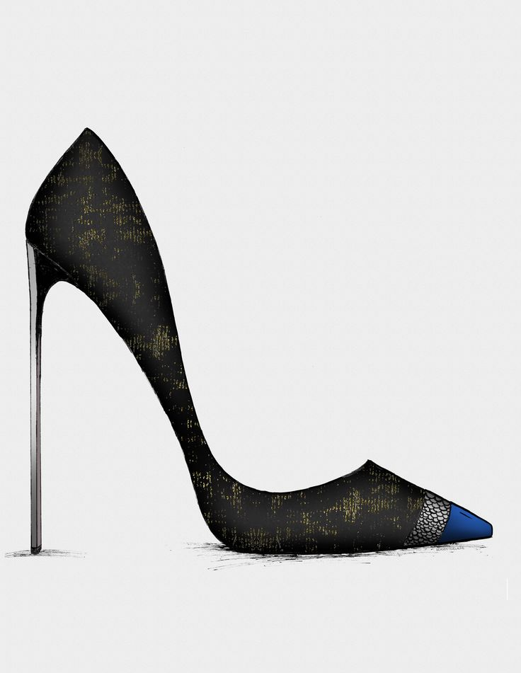 The Black & Blue - Collection- Guillaume Bergen #Fashion #Sketch
