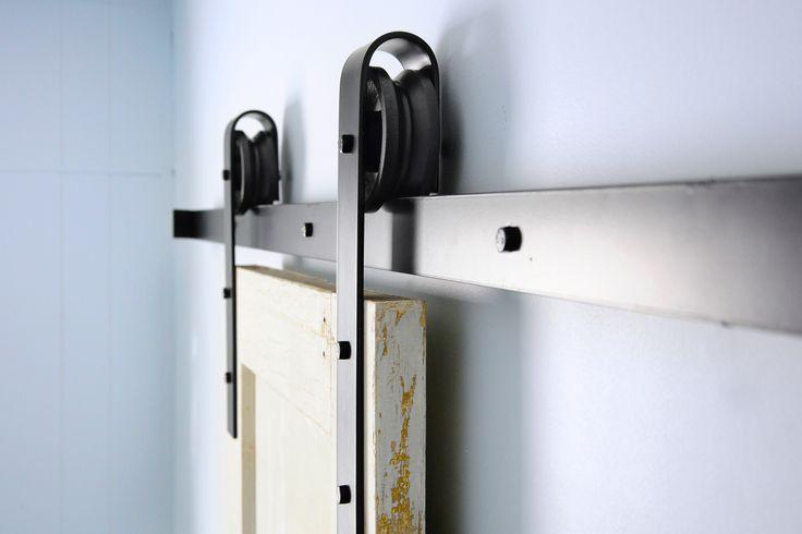Riel de puerta corrediza herreria pinterest de for Riel puerta corredera