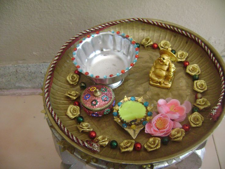 1000 images about aarti plates on pinterest night for Aarti plate decoration