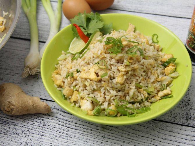 Tojásos sült rizs recept