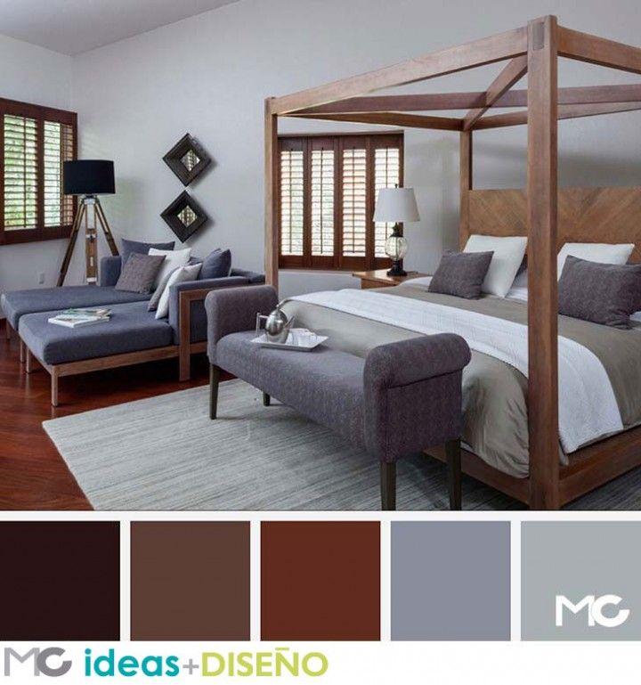 Habitaciones con toques chocolate paletas de colores for Recamaras matrimoniales df