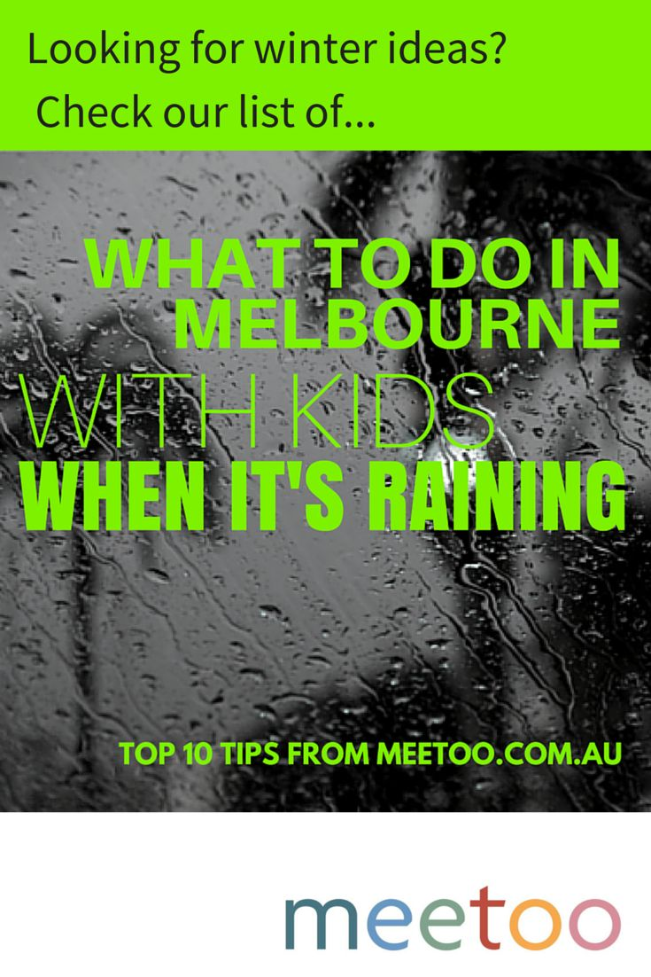 Just because it's cold and wet outside doesn't mean you have to stay at home...  Check out our top 10 favourite things to do in and around Melbourne during winter.   http://meetoo.com.au/10-things-to-do-in-melbourne-when-its-raining/