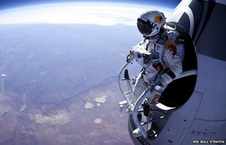 Watch Live: Felix Baumgartner Skydives from 23 Miles Above Earth - From co.uk
