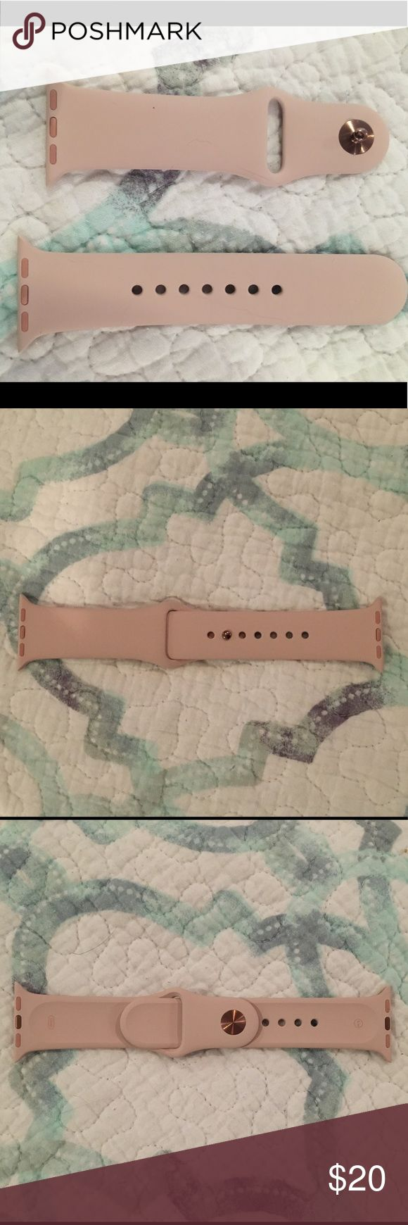 Apple 38mm Pink Sand Sport Band - S/M Brand new and never used. Fits 130–200mm wrists. Comes with original packaging. Price firm. Apple Accessories Watches