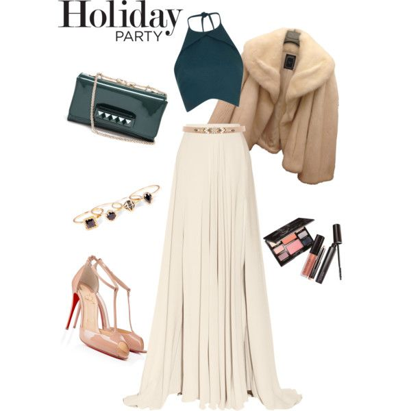 A fashion look from December 2014 featuring Christian Dior jackets, Elie Saab skirts and Christian Louboutin pumps. Browse and shop related looks.