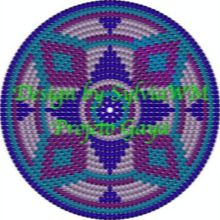 Pattern for Mochila bottom, frisbee or placemat to be made with tapestry crochet technique. For sale for 1 euro