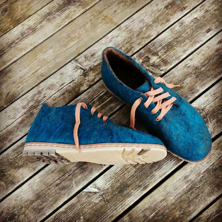wet felted wool unisex shoes LIETUS MEŽS www.pamana.lv
