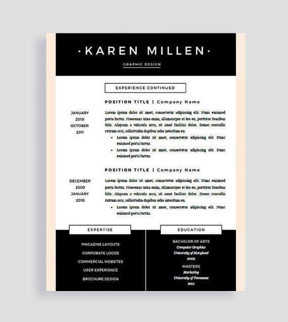 44 best Resume Templates images on Pinterest Cover letters - resume templates for mac