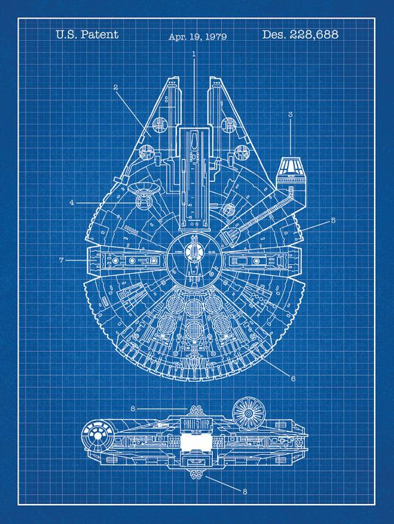 340 best mov cin images on pinterest beautiful people robert ri star wars millennium falcon screen print patent art force awakens battlefront bb 8 x wing death star darth vader han solo lightsaber malvernweather Images