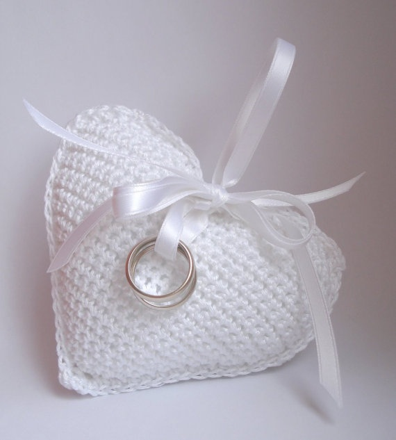 Wedding crochet lavender sachet Wedding Ring Pillow by KatEzat, $30.00