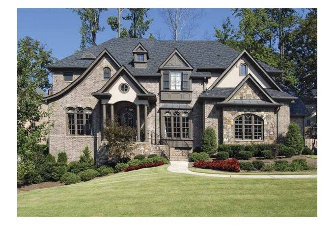 1000 ideas about gray brick houses on pinterest brick for Beautiful brick and stone homes