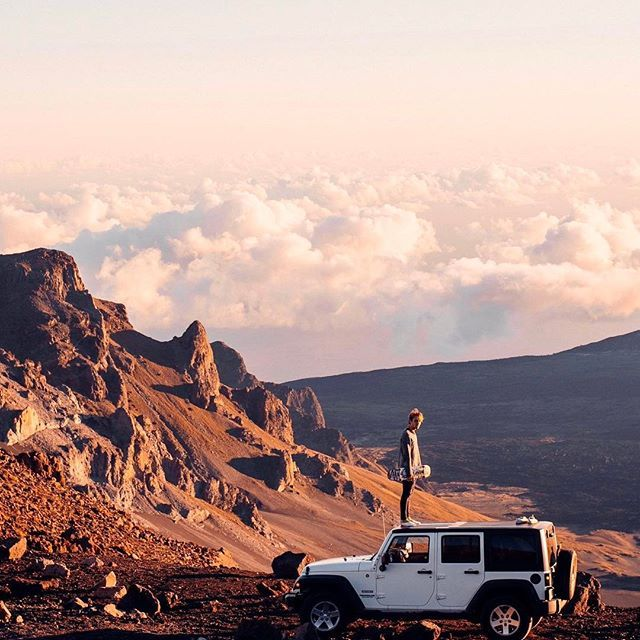 Exploring the top of Haleakala 10 thousand feet up above sea level  with @ritzcarlton #rcmemories