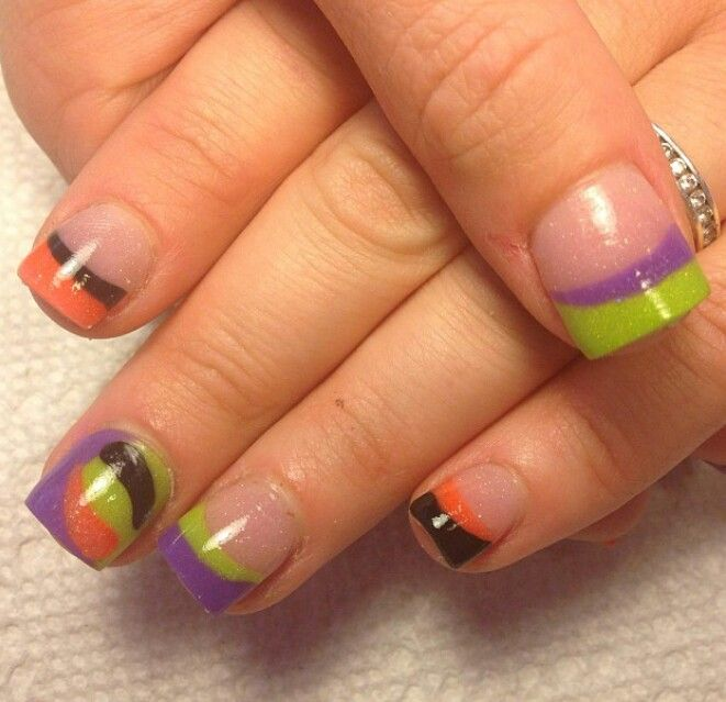 Purple nail art designs acrylic nail designs - Halloween Nailed It Pinterest Makeup And Halloween