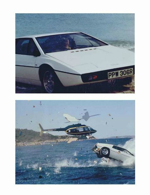 The Spy Who Loved Me - A prop car registration number plate from the Lotus Esprit used by Roger Moore as James Bond in The Spy Who Loved Me and a prop underwater backpack worn by an Atlantis guard in The Spy Who Loved Me