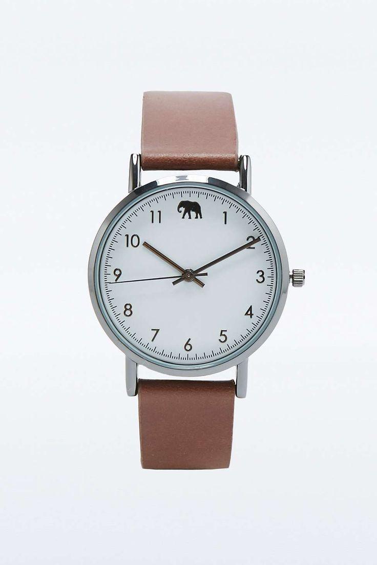 Safari Brown Elephant Watch