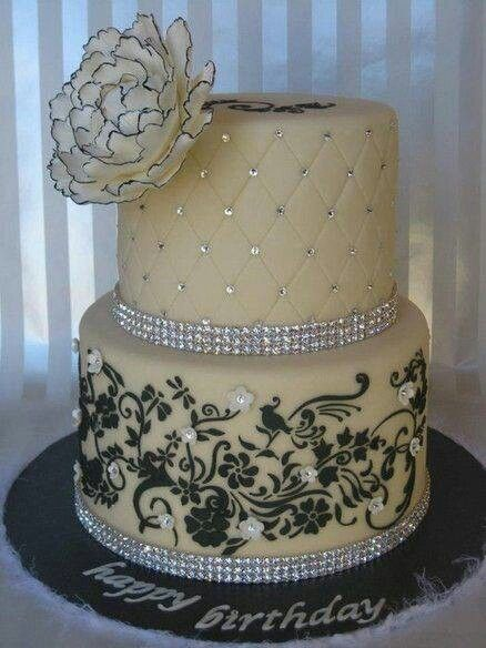 Elegant Birthday Cake Love The Stencil