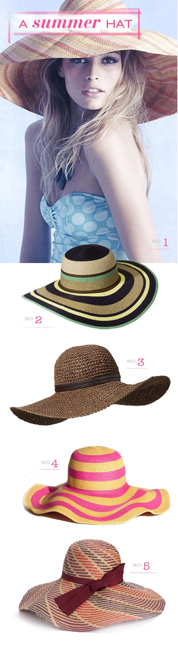 Floppy Summer hats. My dad said today I need to bring hats back. Challenge accepted. Lol. ;)