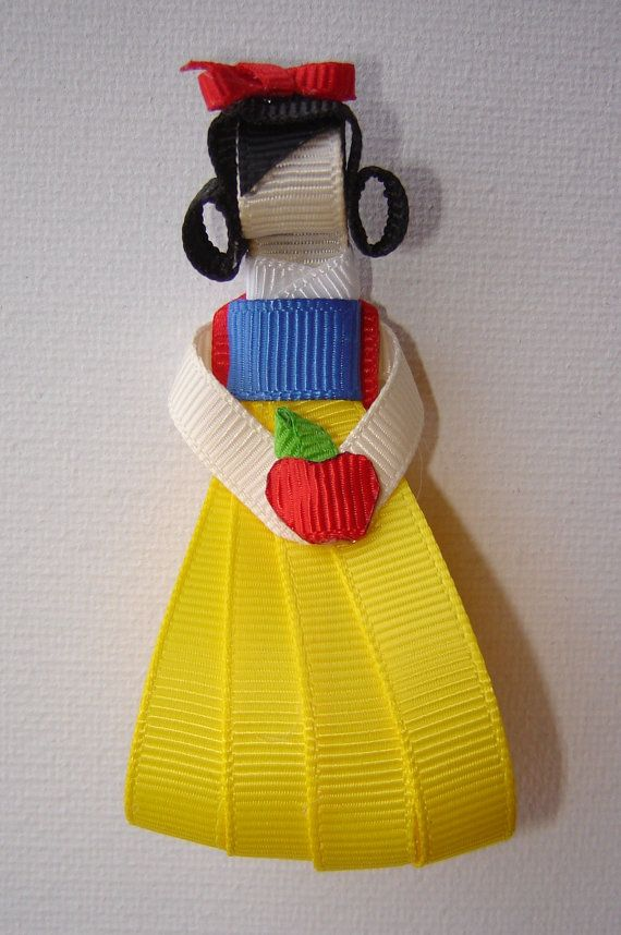 Disney Inspired Princess Snow White Ribbon Sculpture by bowtowne, $7.95