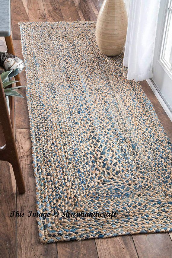 Bohemian Decor Indian Braided Runner Rug Home Decor Runner Etsy Farmhouse Style Rugs Denim Rug Floor Rugs